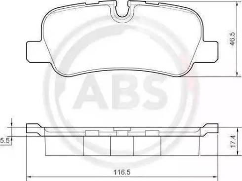A.B.S. 37500 - Piduriklotsi komplekt,ketaspidur multiparts.ee