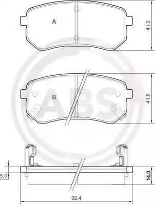 A.B.S. 37515 - Piduriklotsi komplekt,ketaspidur multiparts.ee