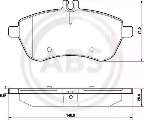 A.B.S. 37584 - Piduriklotsi komplekt,ketaspidur multiparts.ee