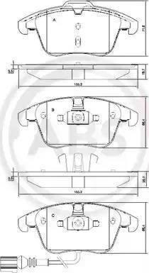A.B.S. 37612 - Piduriklotsi komplekt,ketaspidur multiparts.ee