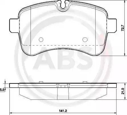 A.B.S. 37630 - Piduriklotsi komplekt,ketaspidur multiparts.ee