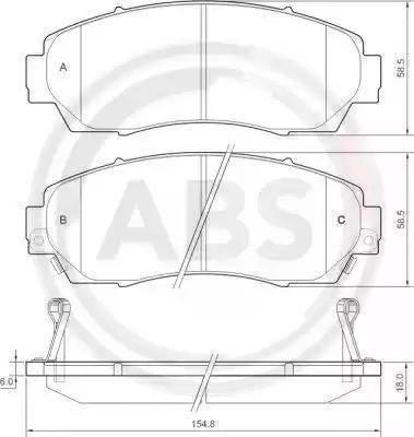 A.B.S. 37627 - Piduriklotsi komplekt,ketaspidur multiparts.ee