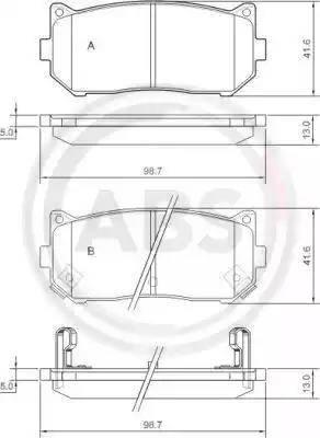 A.B.S. 37045 - Piduriklotsi komplekt,ketaspidur multiparts.ee