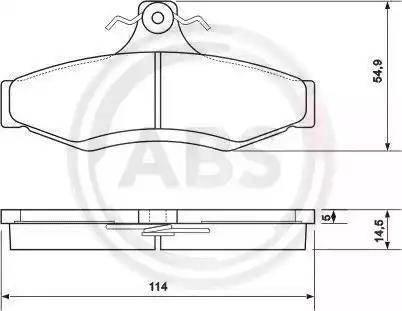 A.B.S. 37054 - Piduriklotsi komplekt,ketaspidur multiparts.ee