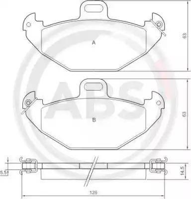 A.B.S. 37051 - Piduriklotsi komplekt,ketaspidur multiparts.ee