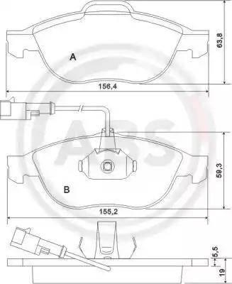 A.B.S. 37064 - Piduriklotsi komplekt,ketaspidur multiparts.ee