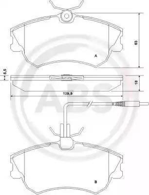 A.B.S. 37019 - Piduriklotsi komplekt,ketaspidur multiparts.ee