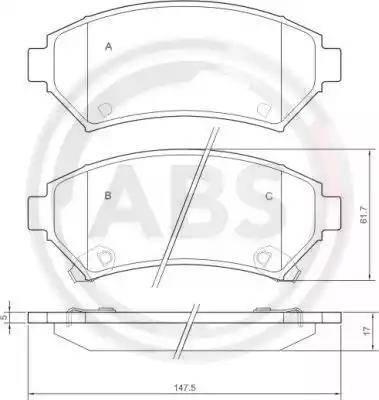 A.B.S. 37015 - Piduriklotsi komplekt,ketaspidur multiparts.ee