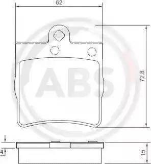 A.B.S. 37021 - Piduriklotsi komplekt,ketaspidur multiparts.ee