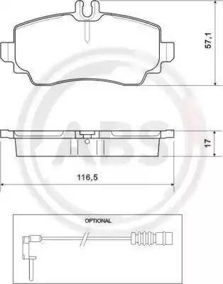 A.B.S. 37078 - Piduriklotsi komplekt,ketaspidur multiparts.ee