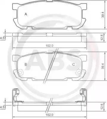 A.B.S. 37190 - Piduriklotsi komplekt,ketaspidur multiparts.ee