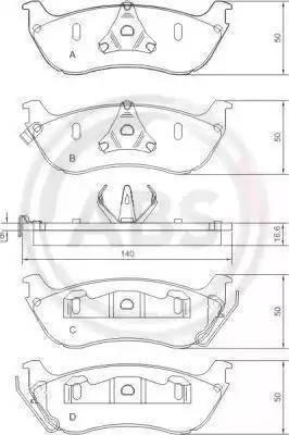 A.B.S. 37148 - Piduriklotsi komplekt,ketaspidur multiparts.ee