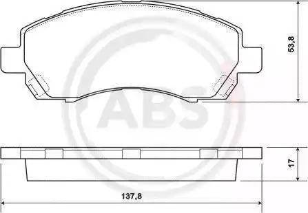 A.B.S. 37163 - Piduriklotsi komplekt,ketaspidur multiparts.ee