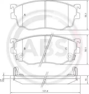 A.B.S. 37189 - Piduriklotsi komplekt,ketaspidur multiparts.ee