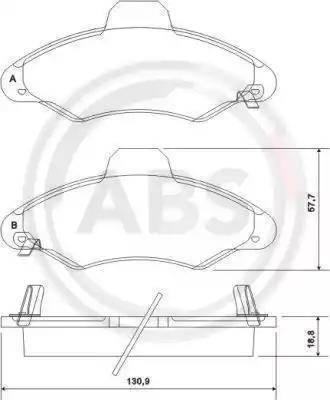 A.B.S. 37127 - Piduriklotsi komplekt,ketaspidur multiparts.ee