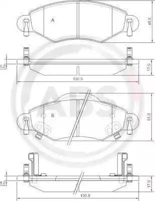 A.B.S. 37309 - Piduriklotsi komplekt,ketaspidur multiparts.ee