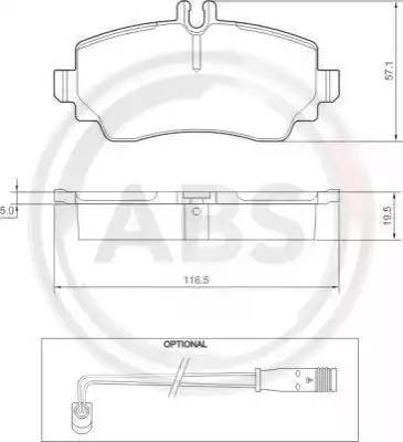 A.B.S. 37336 - Piduriklotsi komplekt,ketaspidur multiparts.ee