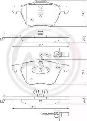 A.B.S. 37240 - Piduriklotsi komplekt,ketaspidur multiparts.ee