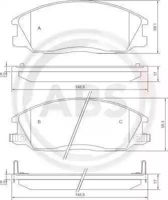 A.B.S. 37242 - Piduriklotsi komplekt,ketaspidur multiparts.ee