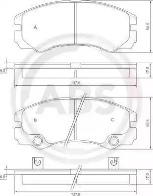 A.B.S. 37257 - Piduriklotsi komplekt,ketaspidur multiparts.ee