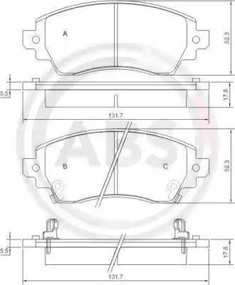A.B.S. 37269 - Piduriklotsi komplekt,ketaspidur multiparts.ee