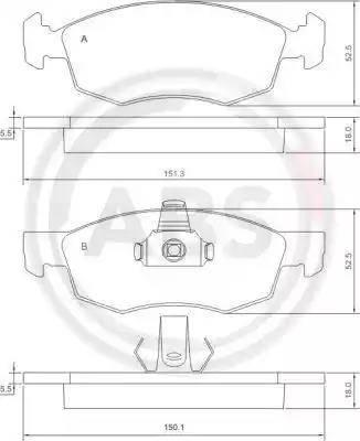 A.B.S. 37286 - Piduriklotsi komplekt,ketaspidur multiparts.ee