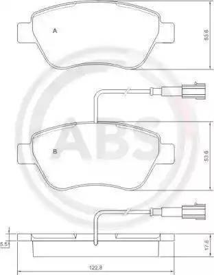 A.B.S. 37280 - Piduriklotsi komplekt,ketaspidur multiparts.ee