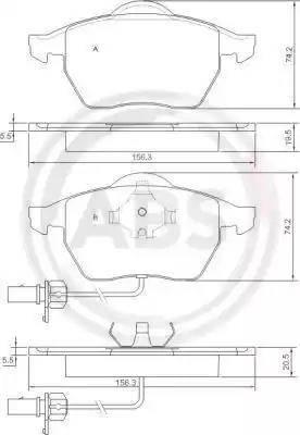 A.B.S. 37239 - Piduriklotsi komplekt,ketaspidur multiparts.ee