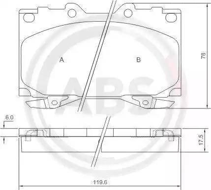 A.B.S. 37231 - Piduriklotsi komplekt,ketaspidur multiparts.ee