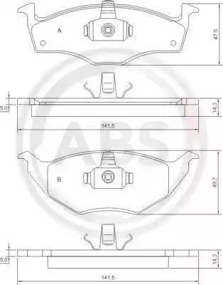 A.B.S. 37238 - Piduriklotsi komplekt,ketaspidur multiparts.ee