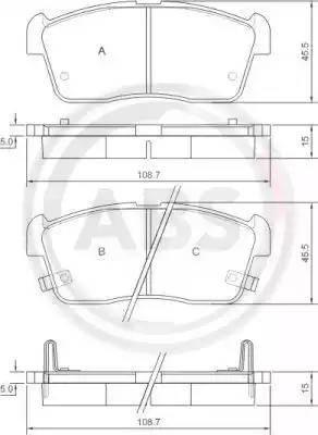 A.B.S. 37222 - Piduriklotsi komplekt,ketaspidur multiparts.ee