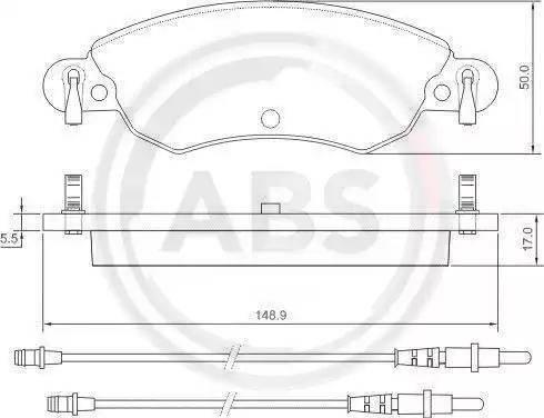 A.B.S. 37278 - Piduriklotsi komplekt,ketaspidur multiparts.ee