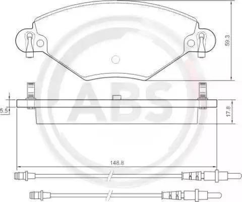 A.B.S. 37277 - Piduriklotsi komplekt,ketaspidur multiparts.ee