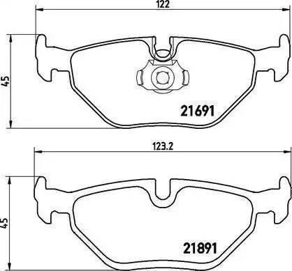 Cifam 822-210-0 - Piduriklotsi komplekt,ketaspidur multiparts.ee