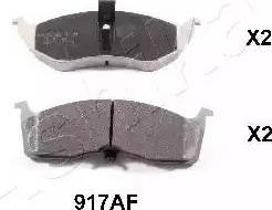 Ashika 50-09-917 - Piduriklotsi komplekt,ketaspidur multiparts.ee
