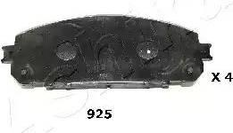 Ashika 50-09-925 - Piduriklotsi komplekt,ketaspidur multiparts.ee