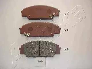 Ashika 50-04-490 - Piduriklotsi komplekt,ketaspidur multiparts.ee