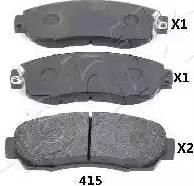 Ashika 50-04-415 - Piduriklotsi komplekt,ketaspidur multiparts.ee