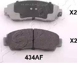 Ashika 50-04-434 - Piduriklotsi komplekt,ketaspidur multiparts.ee