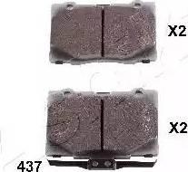 Ashika 50-04-437 - Piduriklotsi komplekt,ketaspidur multiparts.ee