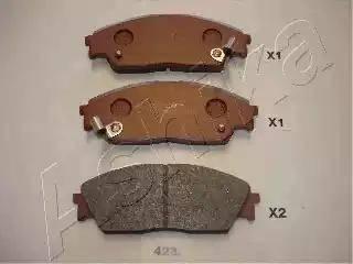 Ashika 50-04-423 - Piduriklotsi komplekt,ketaspidur multiparts.ee