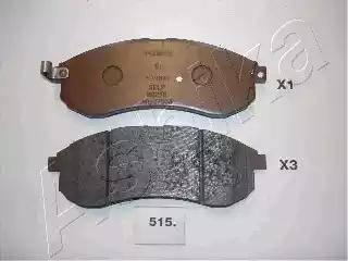 Ashika 50-05-515 - Piduriklotsi komplekt,ketaspidur multiparts.ee