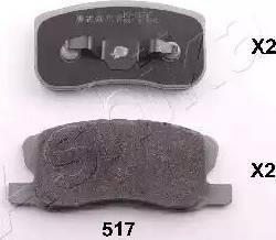Ashika 50-05-517 - Piduriklotsi komplekt,ketaspidur multiparts.ee