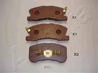Ashika 50-06-615 - Piduriklotsi komplekt,ketaspidur multiparts.ee