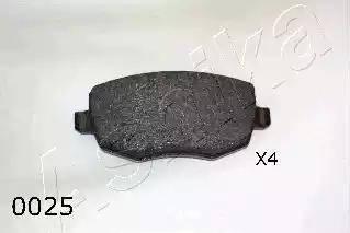 Ashika 50-00-0025 - Piduriklotsi komplekt,ketaspidur multiparts.ee