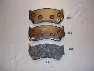Ashika 50-01-191 - Piduriklotsi komplekt,ketaspidur multiparts.ee