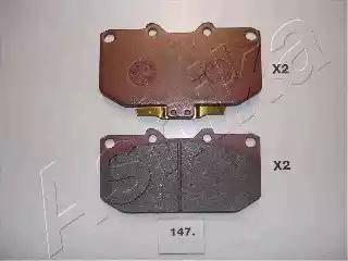Ashika 50-01-147 - Piduriklotsi komplekt,ketaspidur multiparts.ee