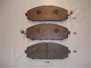 Ashika 50-01-178 - Piduriklotsi komplekt,ketaspidur multiparts.ee