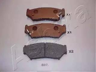 Ashika 50-08-897 - Piduriklotsi komplekt,ketaspidur multiparts.ee