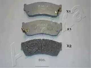 Ashika 50-08-805 - Piduriklotsi komplekt,ketaspidur multiparts.ee